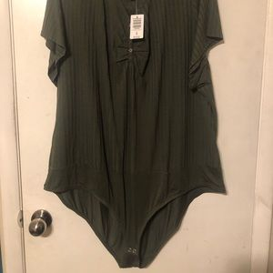 Olive green new with tags onsie from torrid